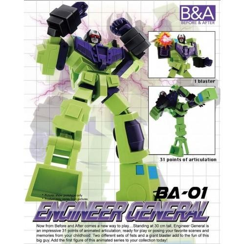 Before & After Engineer General ( Devastator ) Giant Bulky Action Figure