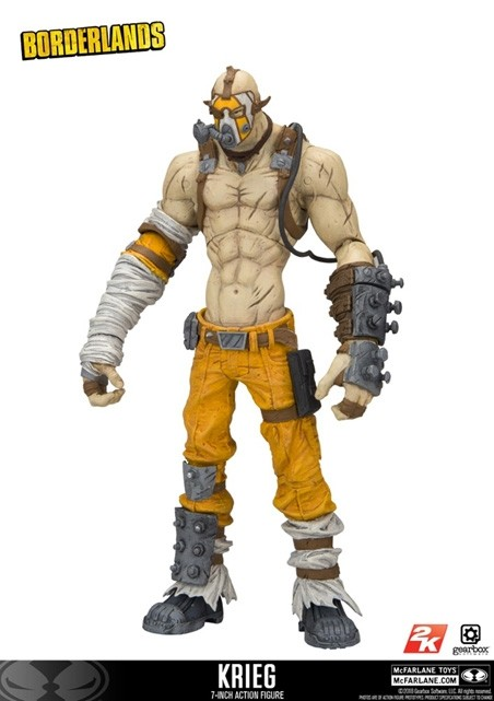 mcfarlane borderlands 2 krieg action figure kapow toys