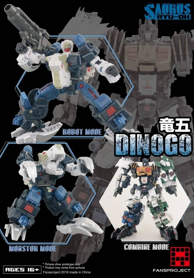 Fansproject Saurus Ryu-Oh Combiner Dinogo