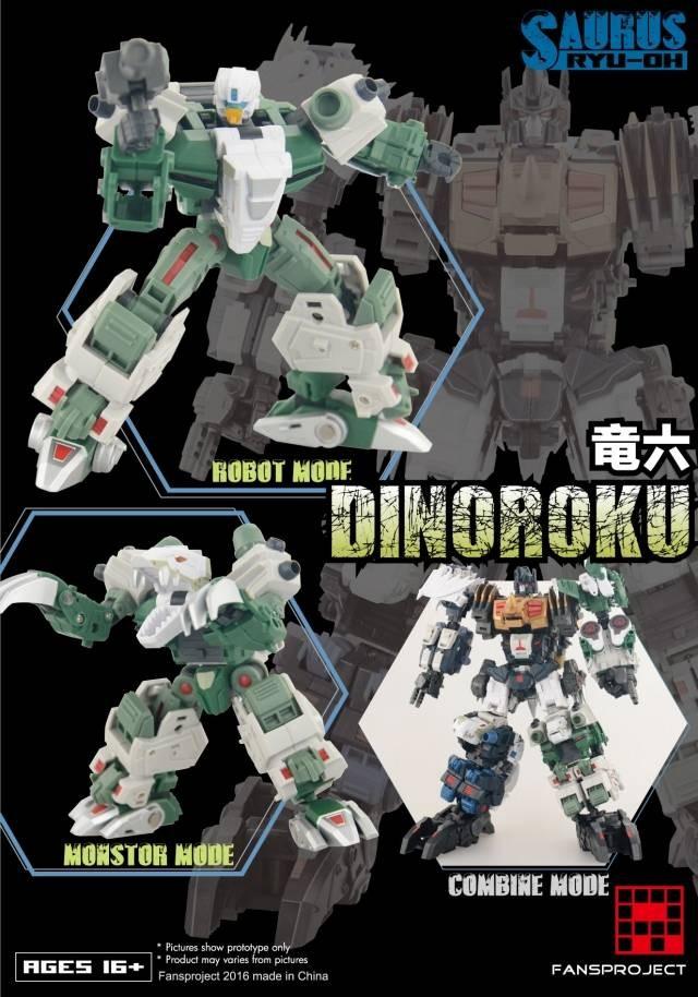 Fansproject Saurus Ryu-Oh Combiner Dinoroku