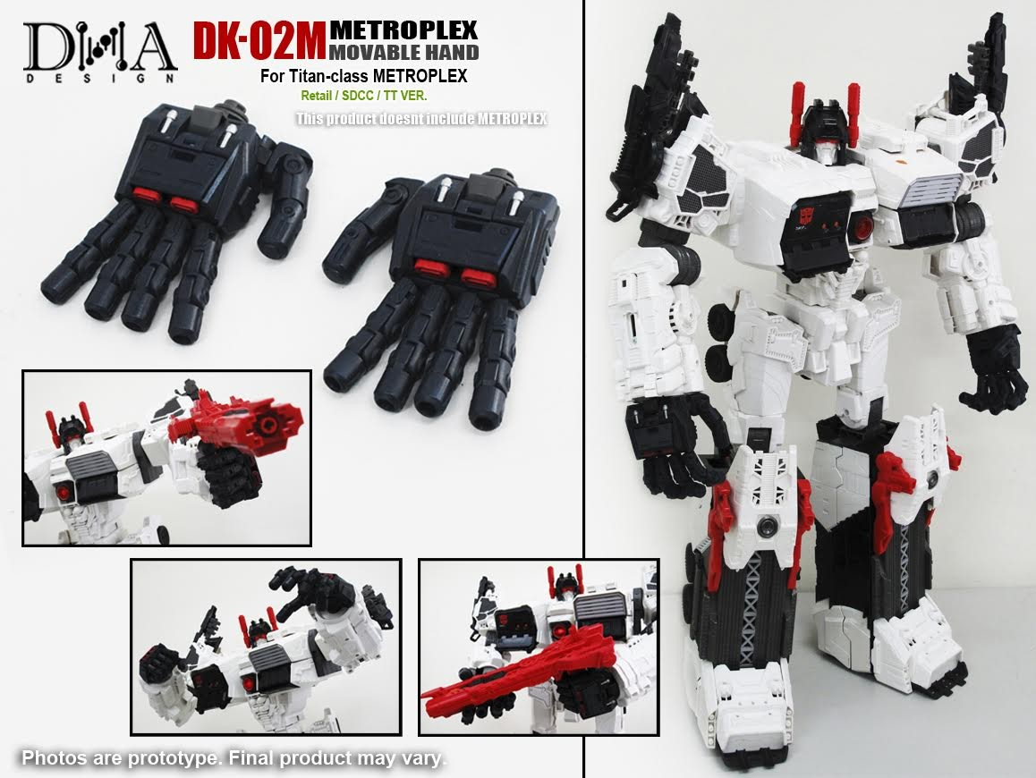 DNA Designs DK-02 Metroplex Movable Hand Upgrade Kit