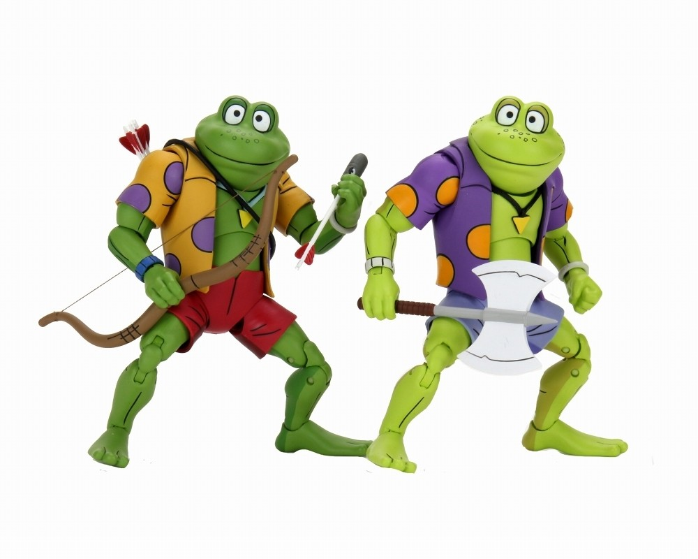 Neca Teenage Mutant Ninja Turtles Genghis Rasputin Frog Tmnt 2 Pack Kapow Toys