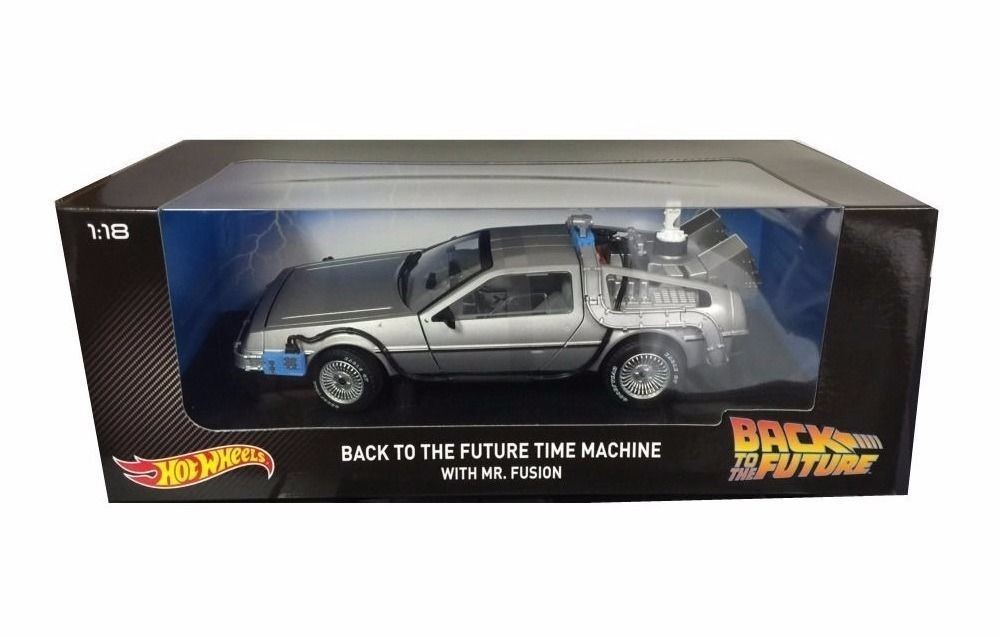 Hot Wheels 1:18 Scale Back to the Future Diecast DeLorean Time Machine