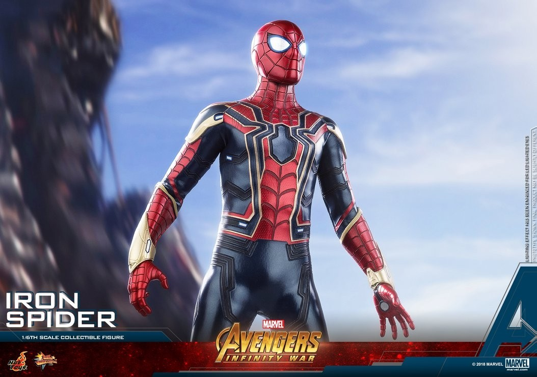 hot toys avengers infinity war iron spider 16th scale