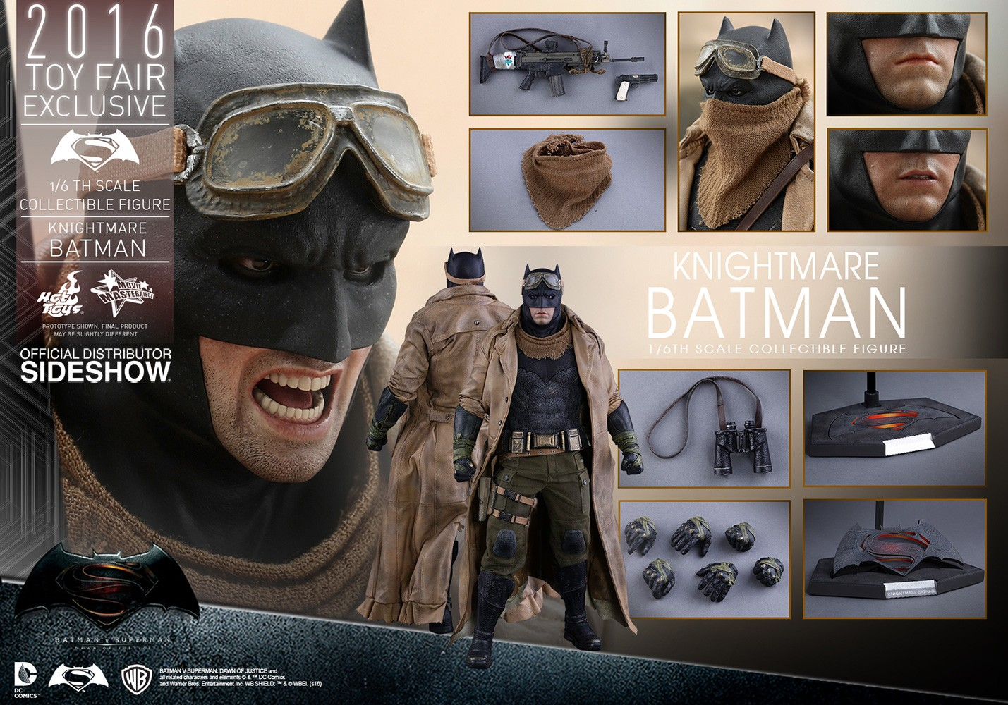 hot toys batman vs superman knightmare batman kapow toys. Black Bedroom Furniture Sets. Home Design Ideas