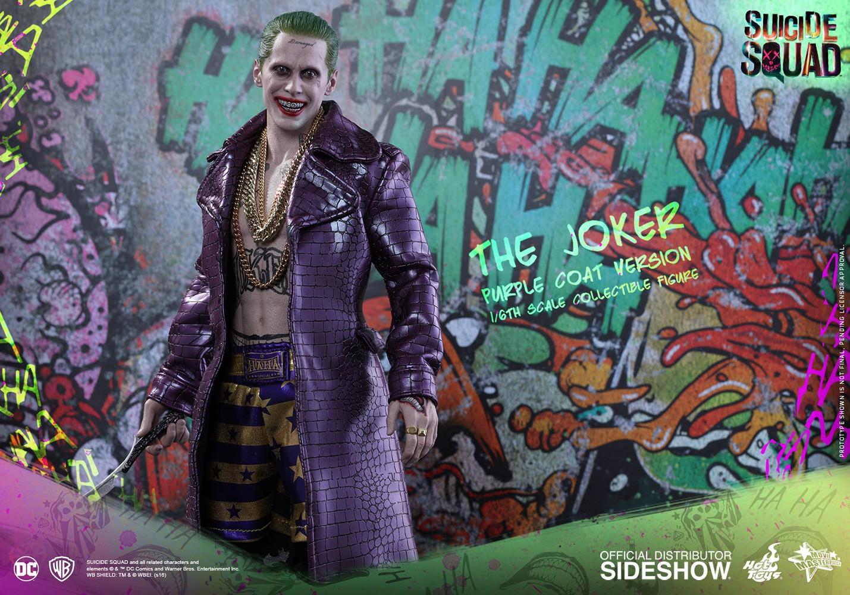 Purple Coat Version 1//6 Purple Coat Hot Toys MMS382 Suicide Squad The Joker