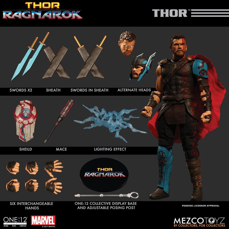 Mezco One 12 Collective Thor Ragnarok Thor Action Figure