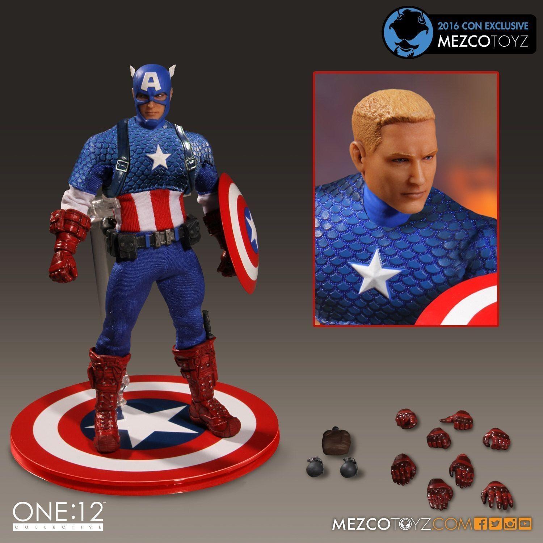 mezco one:12 collective sdcc captain america classic costume figure