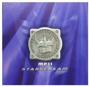 Transformers MP-11 Masterpiece Starscream Coin
