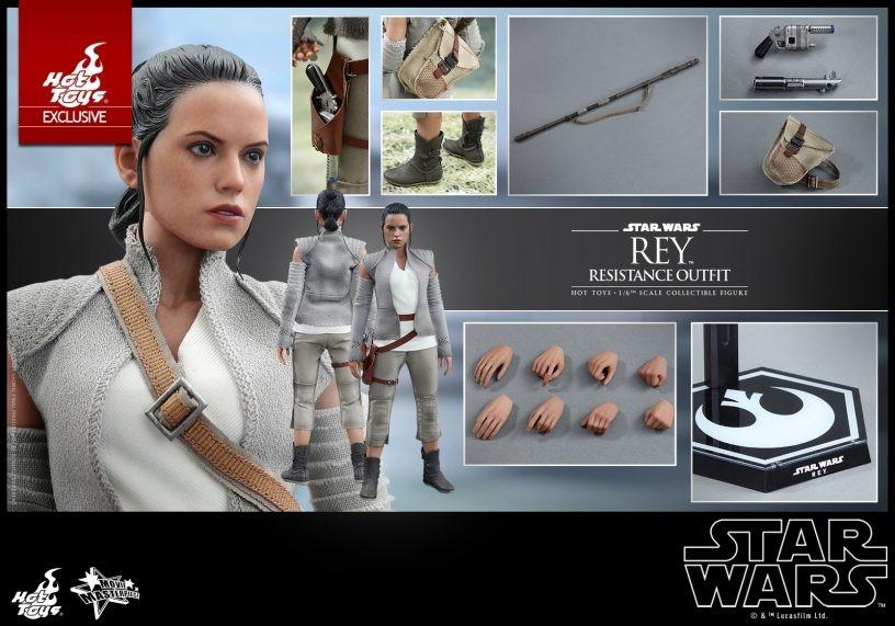 Star Wars 3.75 la Force Réveille Rey Résistance TENUE /& Rey Série Black