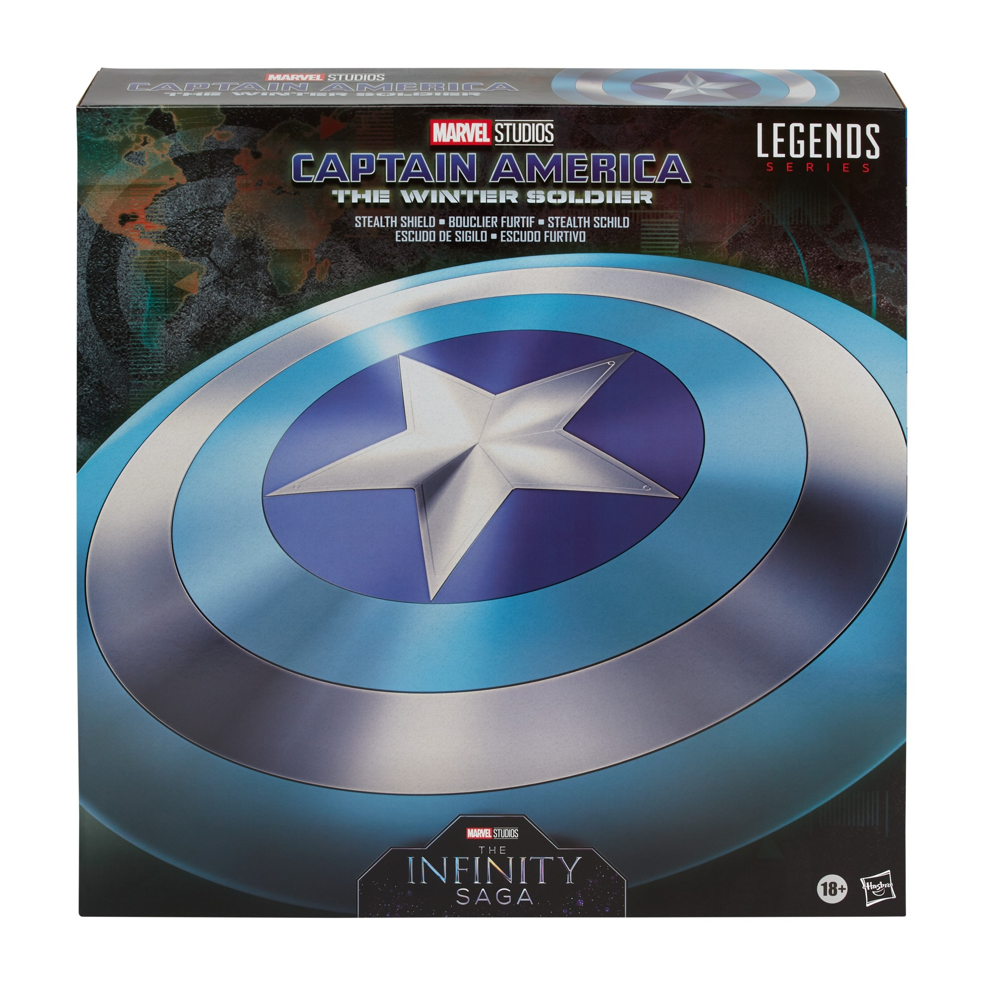 Marvel Legends Real Gear Captain America The Winter Soldier Stealth Shield  20/20 Scale Replica