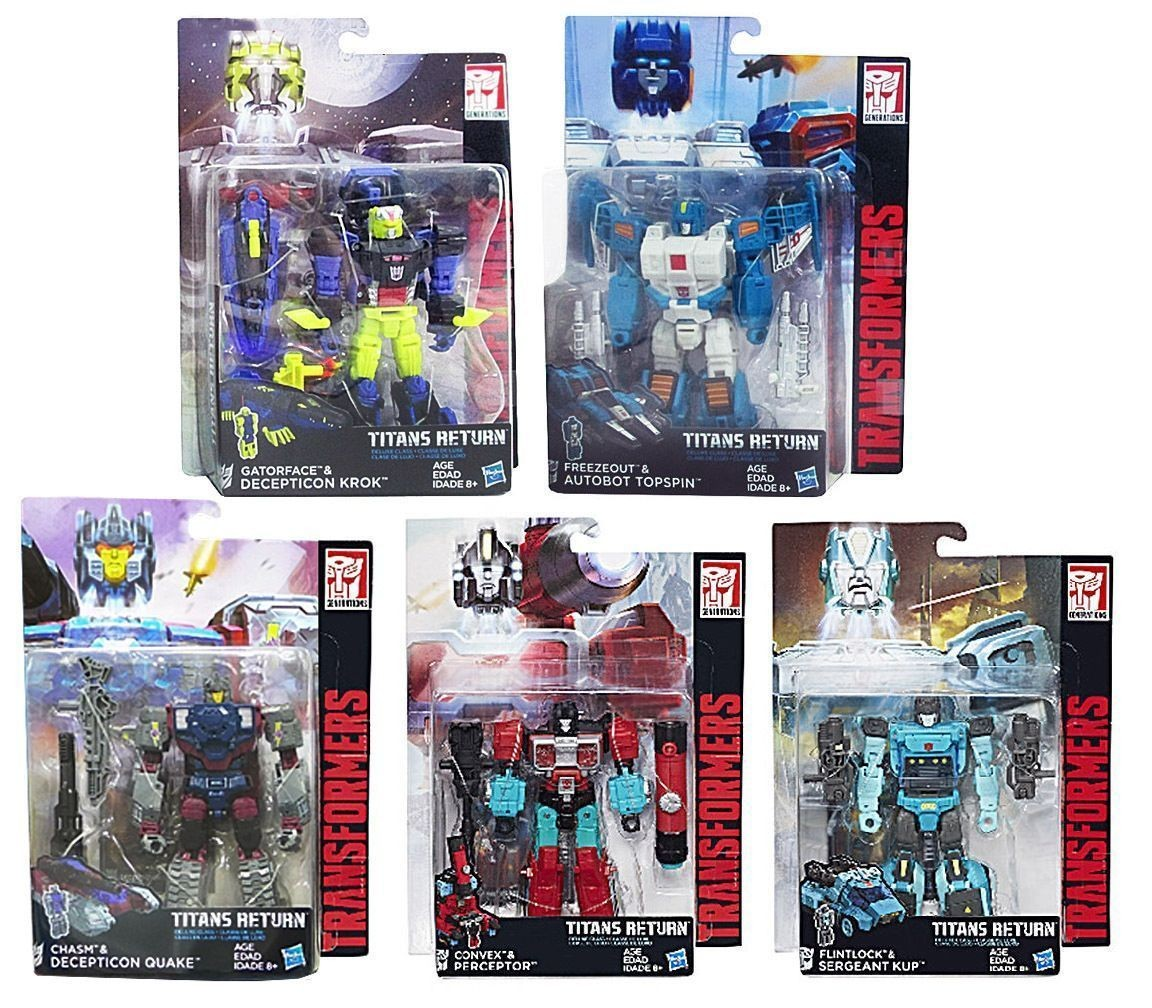 BRAND NEW -Transformers Titans Return Wave 4 Deluxe Set of 5