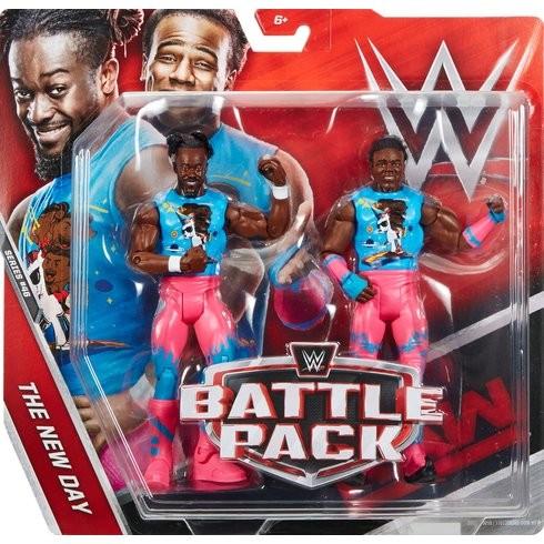 WWE Mattel Battle Pack 46 Xavier Woods /& Kofi Kingston Wrestling Figures