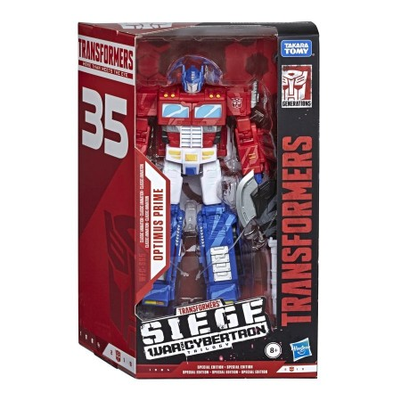 Transformers War For Cybertron Siege 35th Anniversary Optimus Prime Animation Colours