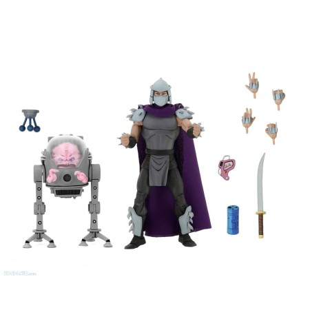 NECA TMNT Krang Vs Shredder 2 Pack