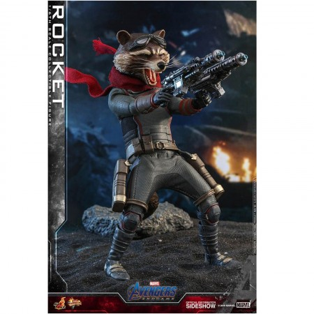 Hot Toys Avengers Endgame Rocket Racoon 1/6 Scale Figure