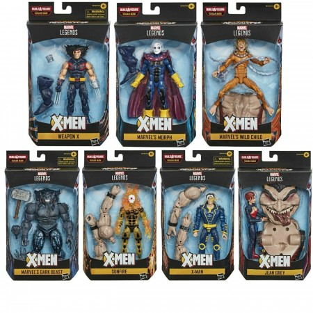 Marvel Legends Age Of Apocalypse Sugar Man BAF Set of 7