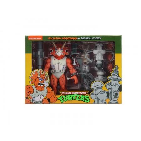 NECA Teenage Mutant Ninja Turtles Triceratron and Rodney Roadkill