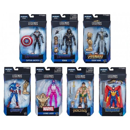 Marvel Legends Avengers Endgame Thanos BAF Set of 7