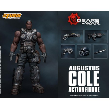 Gears Of Wars Augustus Cole 1/12 Scale Action Figure