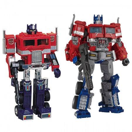 Transformers 35th Anniversary Convoy & Optimus Prime Takara Tomy Mall Excl 2 Pack
