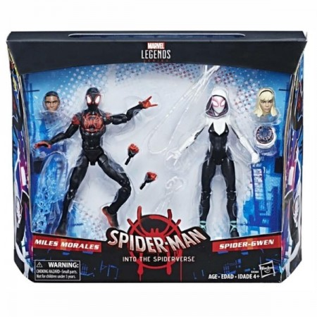 Marvel Legends Into The Spider-Verse Miles Morales & Spider Gwen 2 Pack