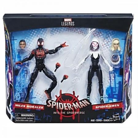 Marvel Legends en el verso de araña millas Morales y araña Gwen 2 Pack