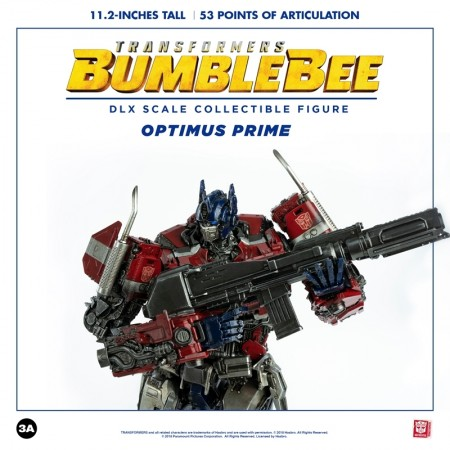 ThreeZero X Hasbro Bumblebee Movie Optimus Prime Deluxe Scale Action Figure