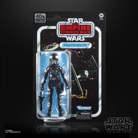 Star Wars 40th Anniversary Black Series TIE Fighter PIlot Empire Strikes Back Action Figure