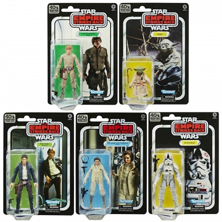 Star Wars 40th Anniversary Black Series Wave 1 Set of 5 Empire Strikes Back Action Figures