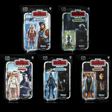Star Wars 40th Anniversary Black Series Wave Set of 5 The Empire Strikes Back Action Figures