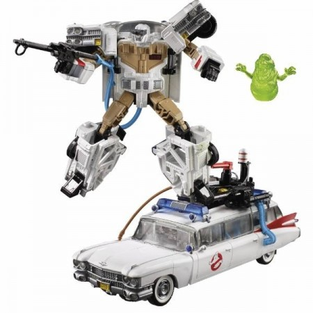 Transformers Ghostbusters crossover Ectotron ecto 1 Figura
