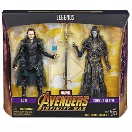 Marvel Legends Avengers Infinty War Loki & Corvus Glaive 2 Pack