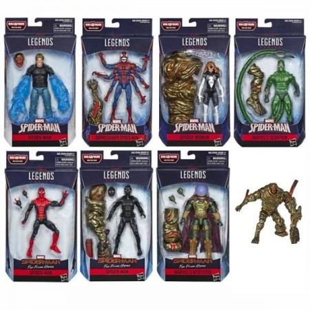 Marvel Legends Spider-Man Far From Home Molten Man Set of 7