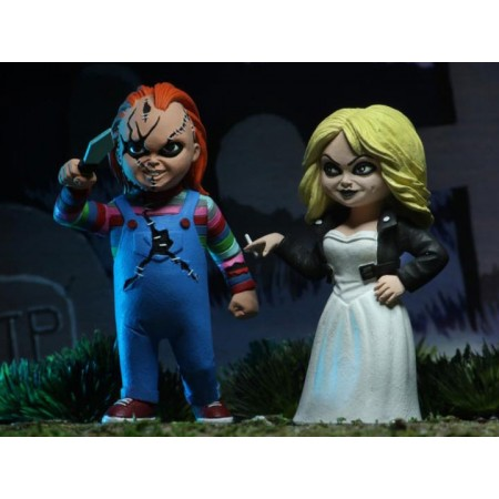 NECA Toony Terrors Bride Of Chucky 2 Pack, Chucky & Tiffany
