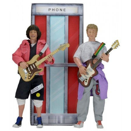 NECA Bill and Ted's Excellent Adventure 8 Inch Clothed Action Figure 2 Pack