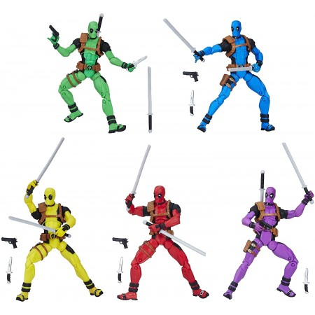 Marvel Legends 3.75 Inch Deadpool Rainbow Squad 5 Pack
