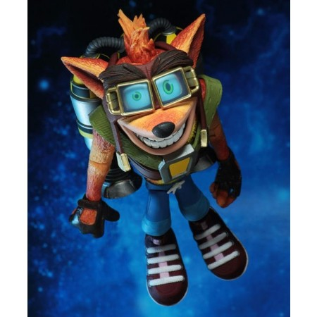 NECA Crash Bandicoot jetpack choque figura de acción