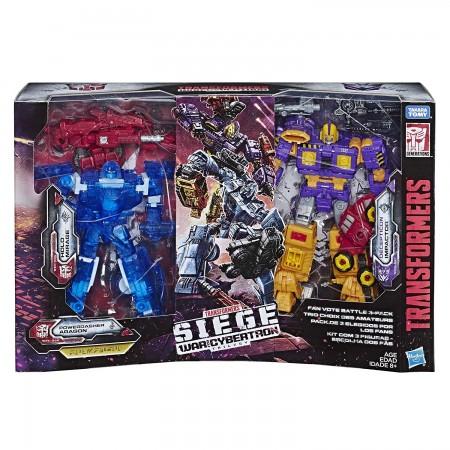 Transformers Siege Fan Vote 3 Pack Holo Mirage, Aragon & Decepticon Impactor