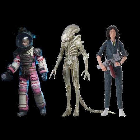 NECA Aliens 40o Aniversario Big Chap Surtido Set de 3
