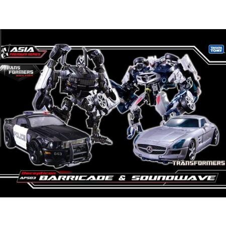Transformers Asia Exclusive APS03 Human Alliance Barricade & Soundwave
