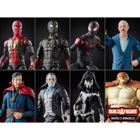 Marvel Legends Spider-Man No Way Home Armadillo BAF Set of 7