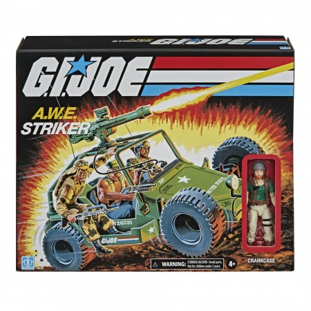 G.I. Joe Retro 3.75 Inch A.W.E Striker & Crankcase Vehicle