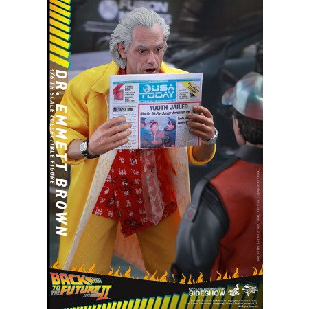 Hot Toys Back To The Future Part II 1/6th Scale Doc Brown Collectible Figure MMS280