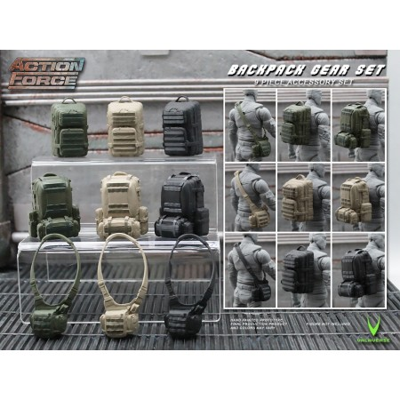 Action Figure Backpack Gear