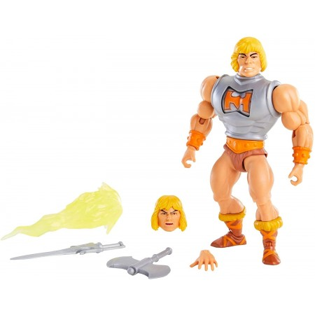 Masters of the Universe Origins Deluxe Battle Armour He-Man ( USA Packaging and Mini Comic )