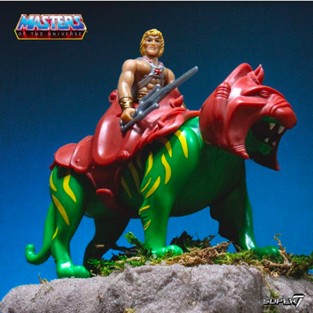 Super 7 Reacción Maestros del Universo He-Man & Battle Cat