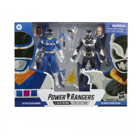 Power Rangers Lightning Collection In Space Blue Ranger Vs Silver Psycho Ranger Action Figure 2 Pack