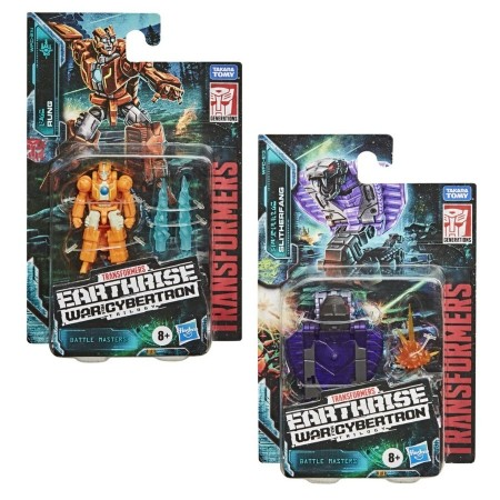 Transformers Earthrise Battle Masters Wave 2 Set de 2 Rung & Slitherfang