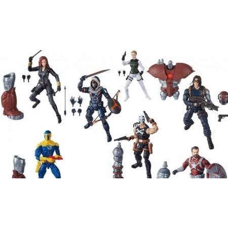 Black Widow Marvel Legends Set of 7 Crimson Dynamo BAF